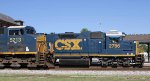 CSX 2786 is pushing train Y122 back into the yard as CSX 5213 leads train Q406 northbound