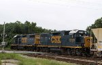 CSX 2729 & 2786 back train Y122 into the yard