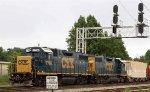 CSX 2786 & 2729 back train Y122 into the yard