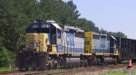 CSX 8005 & 8421 lead a northbound train out of North Collier Yard