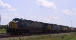 CSX 693 is the lead unit on a train headed northbound