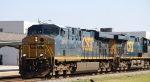 CSX 5449 & 5205 bring train F781 towards the yard