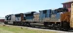 CSX 4835 trails CSX 4719 on train Q405