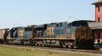 CSX 5281 & 8705 lead empty grain train G833 northbound