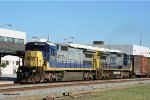 CSX 7514 & 7341 lead train Q451 thru town