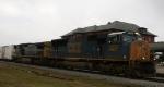CSX 4830 leads train K650 (Juice Train) northbound
