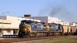 CSX 7663& 7694 lead grain train G906-16