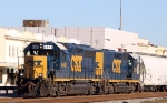 CSX 6448 & 2212 lead train Y122-11 back to the yard