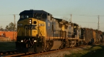 CSX 7911 leads train F781 south early in the morning