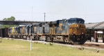 CSX 5394 leads another GE unit and 5 SD40-2's northbound on train Q400
