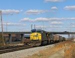 CSX 5013 leads a southbound grain train