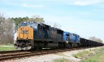 CSX 788 & CEFX 1013 are on the point of a southbound coal train