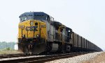 CSX 392 leads a coal train at Charlie Baker