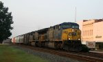 CSX 607 leads another AC60CW and a train northbound