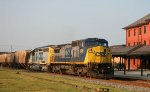 CSX 7349 & 8318 lead a grain train northbound