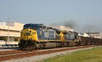 CSX 508 & 542 lead a loaded coal train southbound