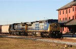 CSX 9019 & 7609 lead an empty grain train northbound