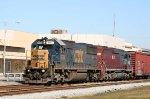 CSX 8654 & HLCX 6400 lead a train southbound