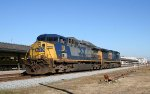 CSX 103 & 561 drift past the station in a light engine move