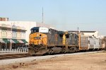 CSX 599 & 7531 lead a train southbound
