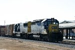 CSX 8376 & 8670 head north past the station