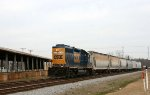 CSX 6001 leads train Y122 back to the yard