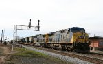 CSX 329 & 74 lead a military train northbound