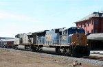 CSX 4814 & 5213 lead a baretable train northbound