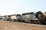 CSX 321 and two other SD's lead a loaded grain train southbound