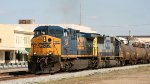 CSX 5102 & 8582 lead a train southbound