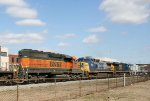 BNSF 7303 heads north on a CSX train