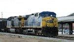 CSX 4 & 329 lead an empty coal train northbound