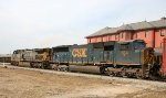 CSX 784 & 300 pass the station