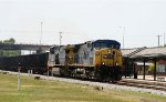 CSX 4 & 406 lead an empty coal train northbound