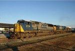 CSX 8775 leads train Q405 southbound