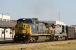 CSX 7363 & 7550 lead a train southbound