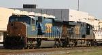 CSX 4828 leads train Q405 into town