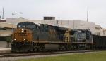 CSX 5263 & 7801 lead train Q409 southbound