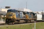 CSX 7747 & 5467 lead train F111 southbound