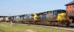 CSX 443 leads train G889 northbound