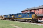 CSX 3168 & 5446 lead train Q446-15 northbound