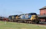 CSX 64 & 923 lead train F774-18