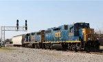 CSX 2035 & 2041 push train Y122-09 back towards the yard