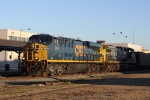 CSX 744 & 455 bring coal train U306 through town