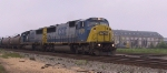 CSX 8779 leads a southbound train past Charlie Baker