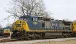 CSX 7363 sits in the wye
