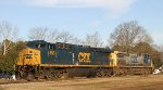 CSX 653 & 299 sit outside the yard office