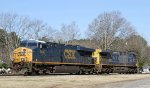 CSX 5480 & 454 sit outside the yard office