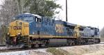 CSX 5414 & 7840 sit in a siding