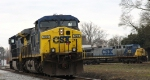 CSX 522 sits outside the Pigford Yard office